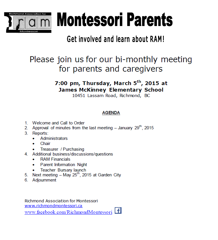 RAM Meeting Notice - March-2015