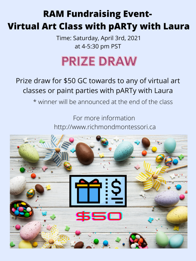 Art Fundraising Poster- prize draw 2